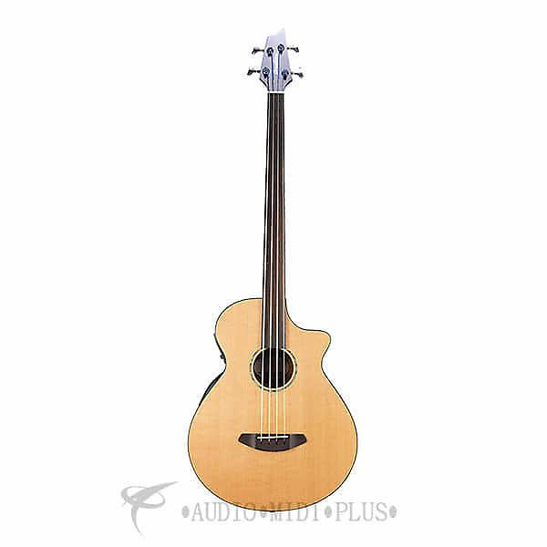 Custom Breedlove Solo Bass Fretless Acoustic/Electric Bass Guitar-Natural - 2016SBFAEBS - 875934006899 #1 image