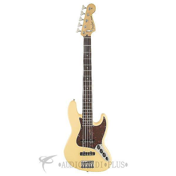 Custom Fender Deluxe Active Jazz Bass - Vintage White  - 0136860341 - 717669301422 #1 image