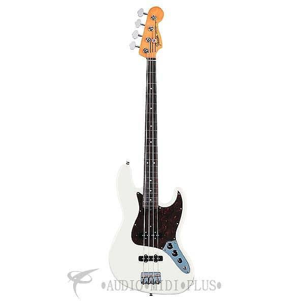 Custom Fender '60s Jazz Rosewood Fingerboard 4 Strings Electric Bass Guitar Olympic White - 131800305 #1 image