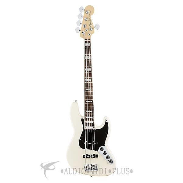 Custom Fender American Elite Jazz 5-Strings Electric Bass Guitar Olympic White - 197100705 - 885978655984 #1 image