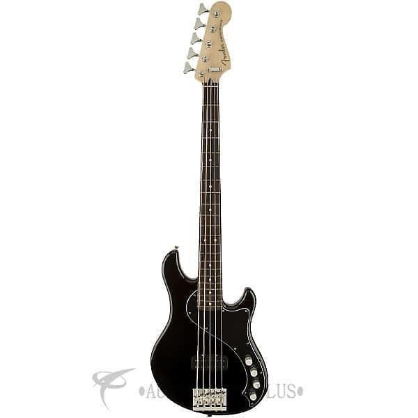 Custom Fender Deluxe Dimension Rosewood Fingerboard 5 Strings Electric Bass Guitar Black - 142700306 #1 image