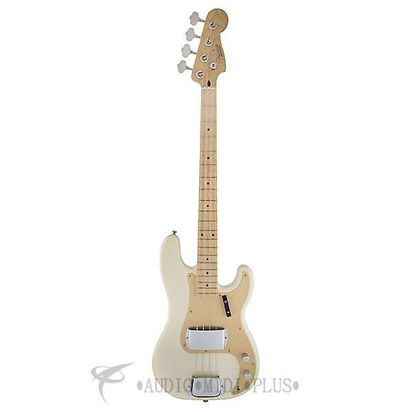 Custom Fender American Vintage 58 Precision 4S Electric Bass Guitar White Blonde-191002801-885978279005 #1 image