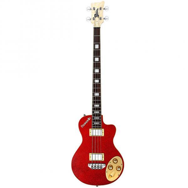 Custom Italia Maranello Bass 4-String Bass Guitar Red w/ Italia Deluxe Gig Bag #1 image