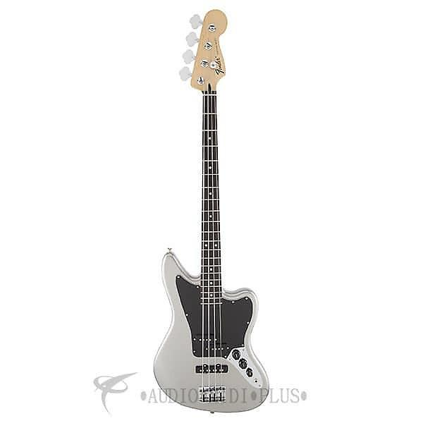 Custom Fender Standard Jaguar Rosewood Fingerboard 4 String Electric Bass Guitar Ghost Silver - 149700581 #1 image