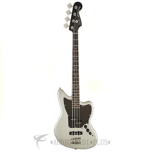 Custom Fender Squier Vintage Modified Jaguar Special SS Rosewood FB 4/S Electric Bass Guitar Silver #1 image