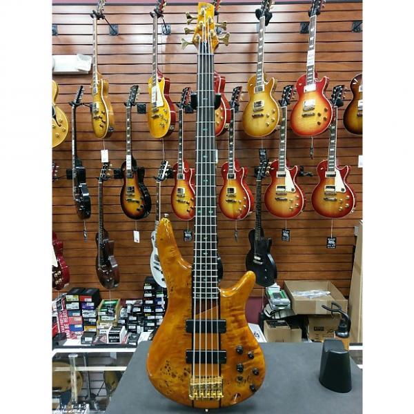 Custom SR805AM 5-String Electric Bass, Amber #1 image