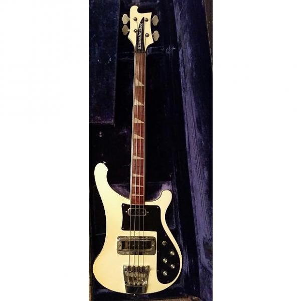 Custom Rickenbacker 4001 Lined Fretless 1974 White #1 image