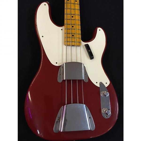 Custom Fender LTD 1955 PBASS JRN - CMR Crimson Red #1 image