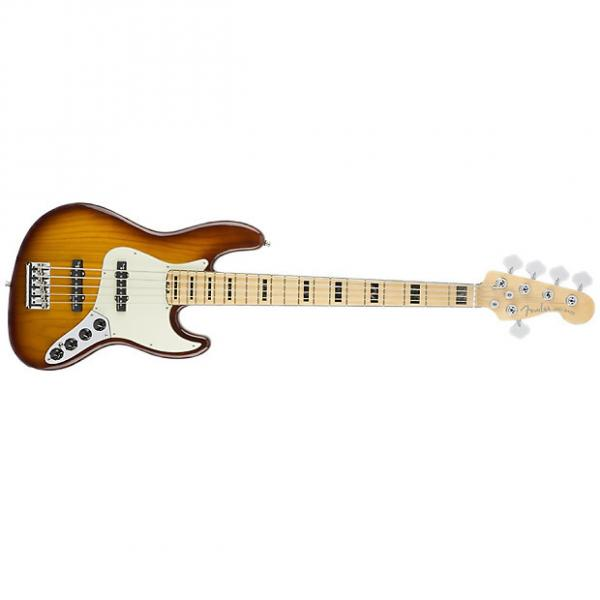 Custom FENDER American Elite Jazz Bass V Ash Maple Fretboard Tobacco Sunburst #1 image