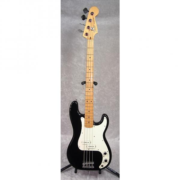 Custom 1983 USA Fender Precision Bass P-bass guitar in black finish with case #1 image