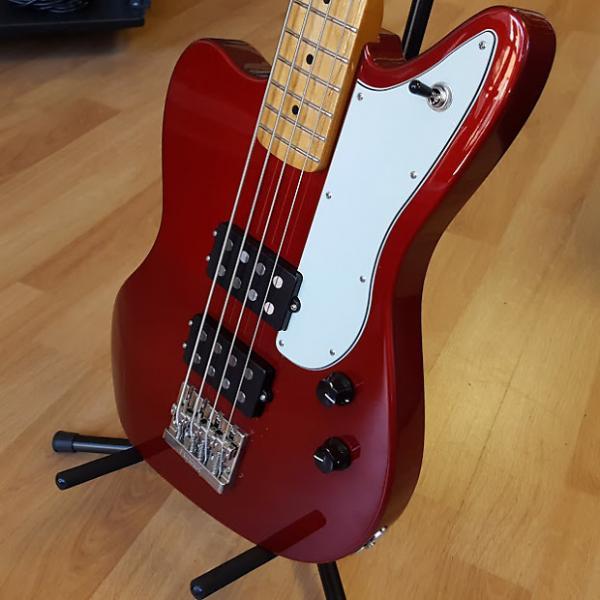 Custom Fender Reverse Jaguar Bass - Candy Apple Red #1 image