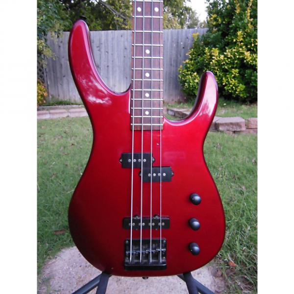 Custom Squier HM Bass 1989 Candy Apple Red #1 image