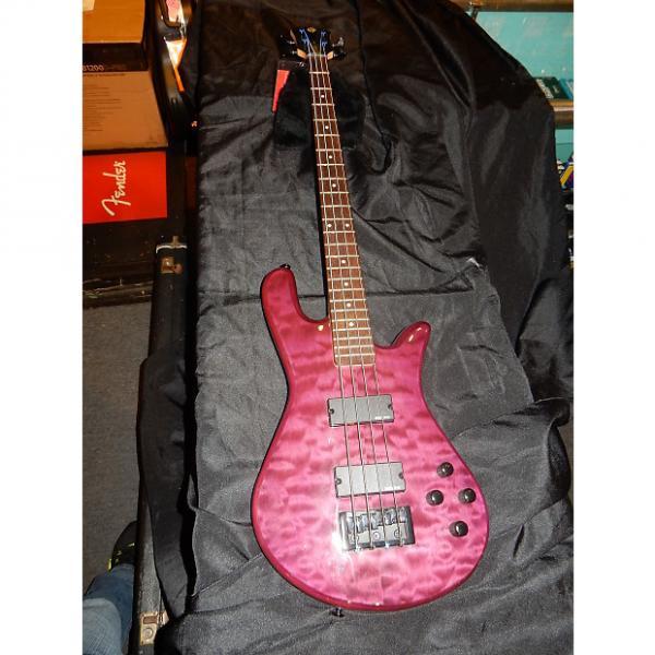Custom Spector Legend Classic-4 4-String Electric Bass Guitar Trans Purple #1 image