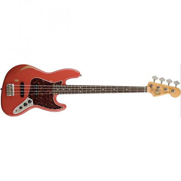 Custom Fender Road Worn '60's J-Bass Fiesta Red w/bag #1 image