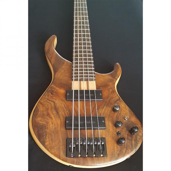 Custom Blood Brothers Custom Guitars  Claro Walnut on Swamp Ash 5 String Bass 2016 Clear Satin #1 image