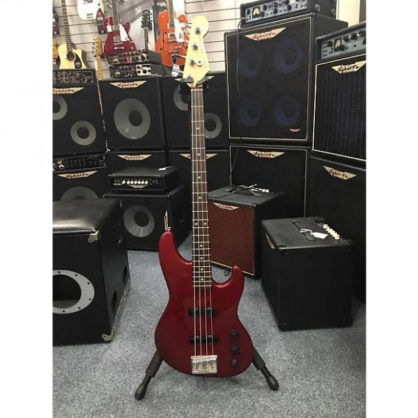 Custom Fender Jazz Bass Plus With Hiscox Case - Used, Red #1 image
