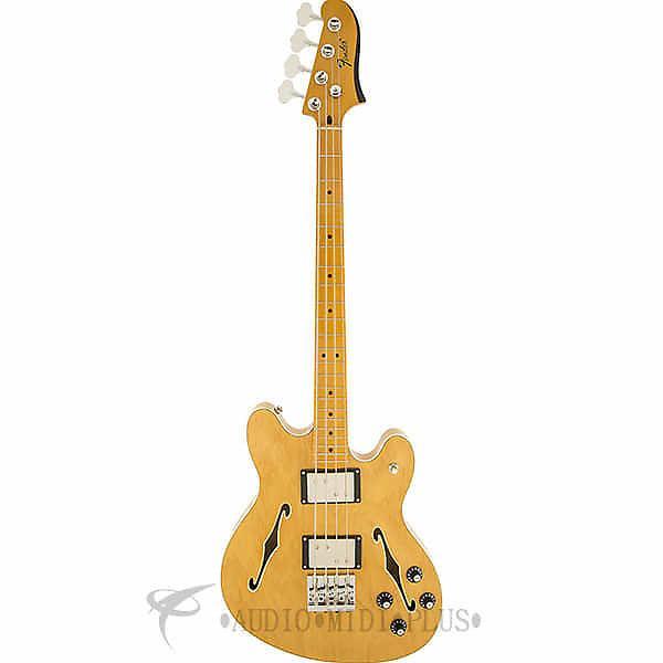 Custom Fender Starcaster Maple Fingerboard 4 String Electric Bass Guitar Natural - 243302521 -885978320400 #1 image
