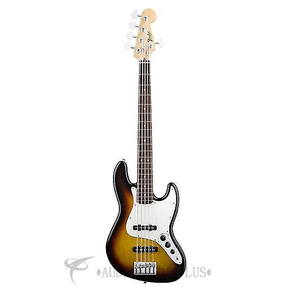 Custom Fender Standard Jazz Rosewood Fingerboard 5 Strings Electric Bass Guitar Brown Sunburst - 146600532 #1 image
