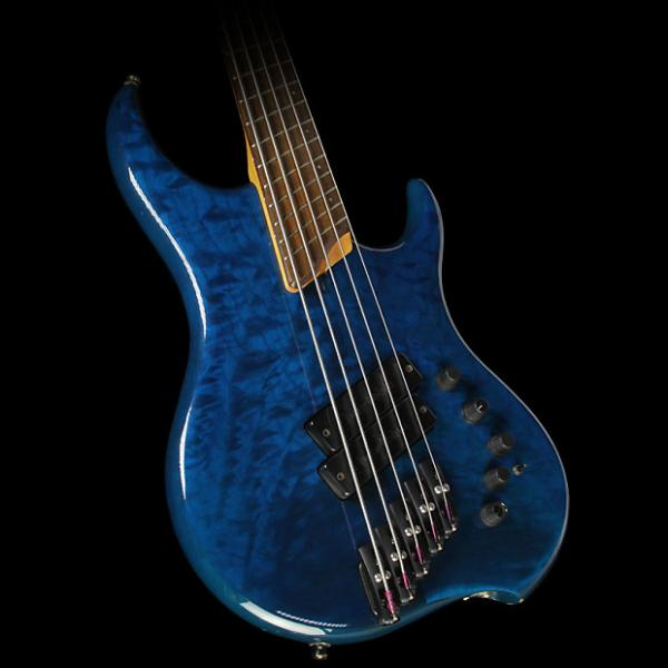 Custom Used Dingwall Z2 5-String Electric Bass Guitar Teal Burst #1 image
