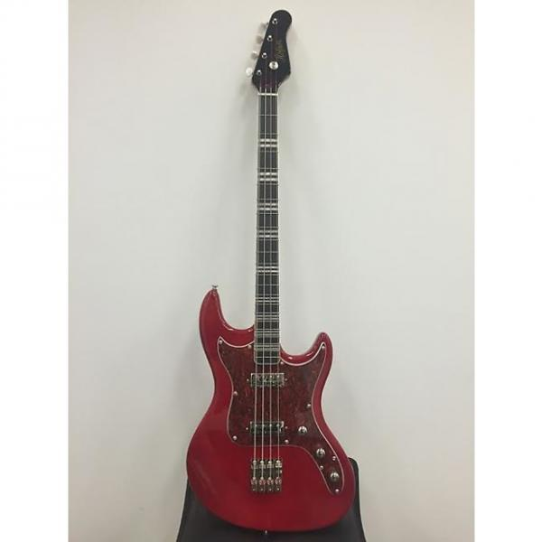 Custom Limited Edtion Reissue Hofner Galaxie Short Scale Funky Bass Metallic Red Staple Pickups Brand New #1 image