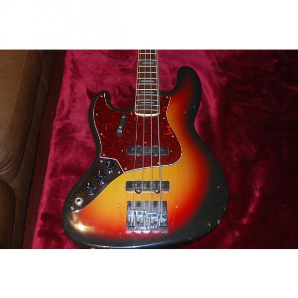 Custom CarloRobelli Jazz Bass 1970s Tobacco Burst Left Hand Bass Guitar #1 image