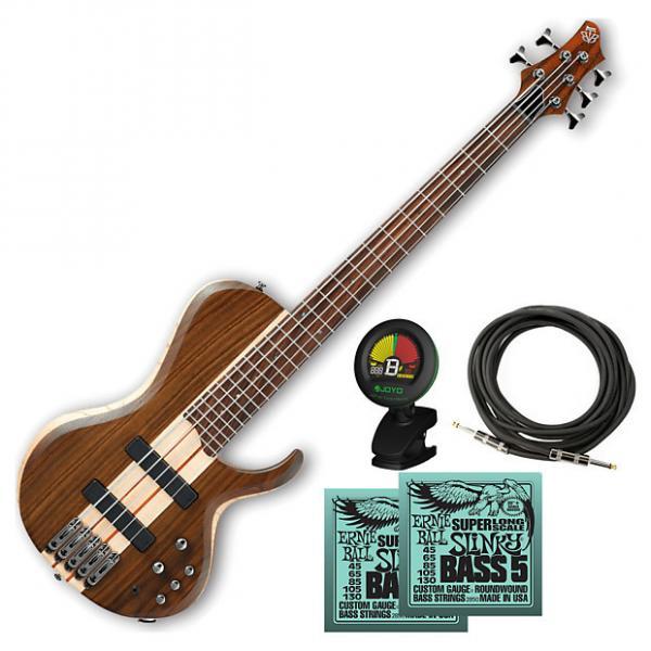 Custom Ibanez BTB685SC Terra Firma 5-String Electric Bass Guitar Bundle #1 image