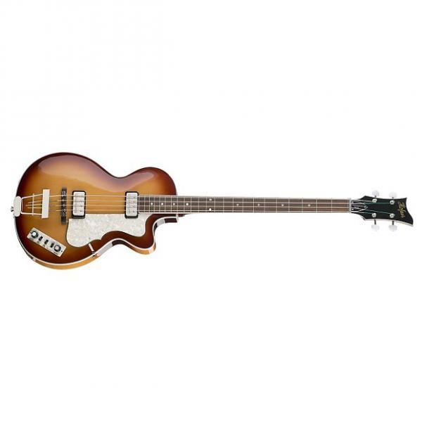 Custom New Hofner CT Club Bass Guitar with Hofner Fitted Case Sunburst #1 image