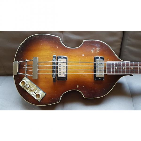 Custom Hofner 500/1 Beatle bass 1965 Violin Burst #1 image