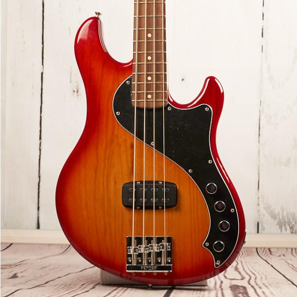 Custom Fender Deluxe Active Dimension Bass IV 2014 Aged Cherry Burst #1 image
