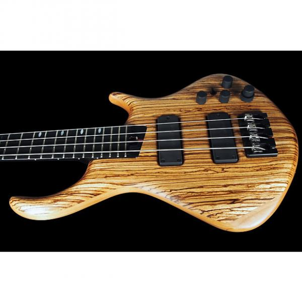 Custom Warrior Signature 4-String Bass Flamed Zebra Top ~ Natural ~ Comes with Warrior Warranty #1 image