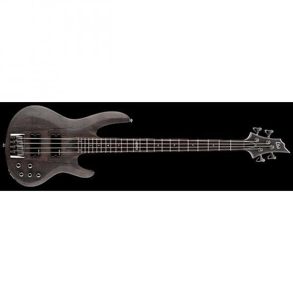 Custom ESP LTD B-204 B Series Bass Guitar 4-string See Thru Black Satin Maple Top w/ Active EQ LB-204SMSTBLKS #1 image