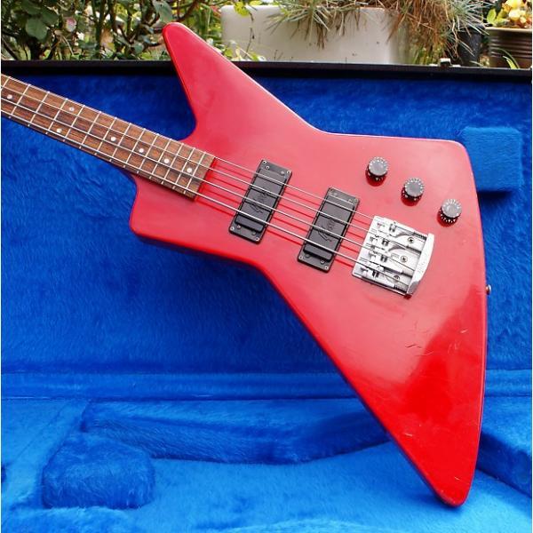 Custom 1986 Ferrari Red Gibson Explorer Bass & Original Case #1 image