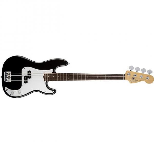 Custom Fender American Standard Precision 4-String Electric Bass Guitar Black + Case #1 image