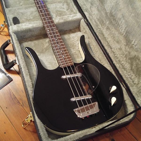 Custom Danelectro Longhorn Bass Black w/Guardian Hard Case & Free Shipping #1 image