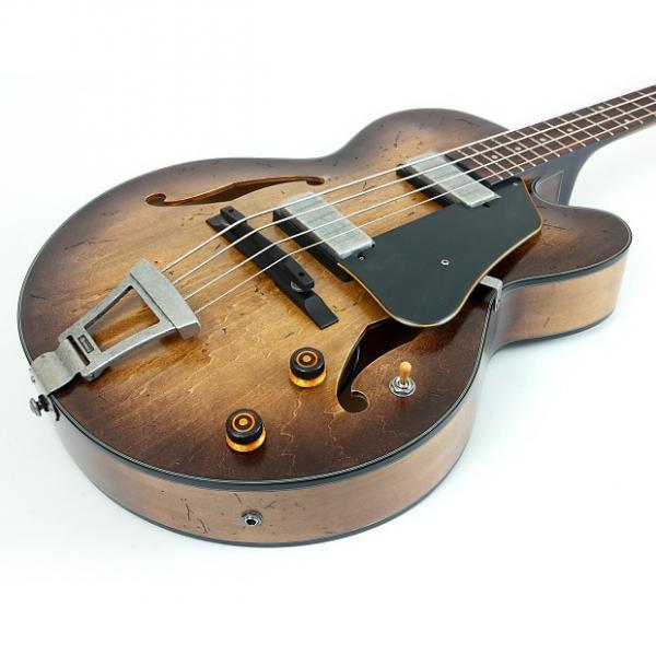 Custom Ibanez AFBV200A Artcore Series Bass Guitar | Tobacco Burst #1 image