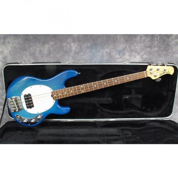 Custom 1992 Music Man Stingray   Blue Burst    Andy Baxter Bass & Guitars #1 image