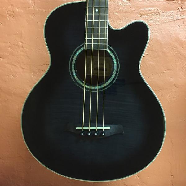 Custom Ibanez AEB20E-TKS Acoustic Bass #1 image