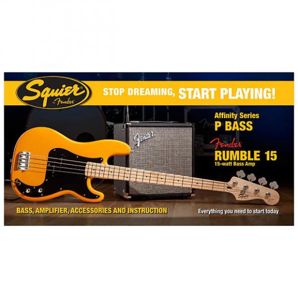 Custom Fender Squier Stop Dreaming, Start Playing Affinity Precision Bass With Rumble 15 Amp #1 image