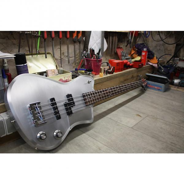 Custom MeloDuende Guitars Fury Bass 2016 Brushed Aluminium #1 image
