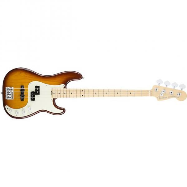 Custom Fender American Elite Precision Bass Guitar Maple Neck Tobacco Sunburst + Case #1 image