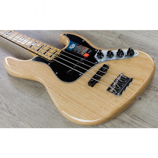 Custom Fender American Elite Jazz 4-String Bass Guitar Maple Fingerboard Natural + Case #1 image