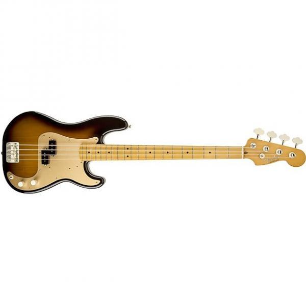 Custom Fender Classic Series '50s Precision Bass Guitar Maple Fretboard 2-Tone Sunburst #1 image