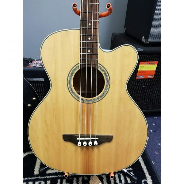 Custom Takamine  EQB2S Acoustic Electric Bass 2012  Natural #1 image