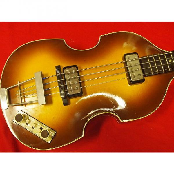Custom Hofner 500/1 Violin Bass 2004 V63 Reissue Sunburst #1 image