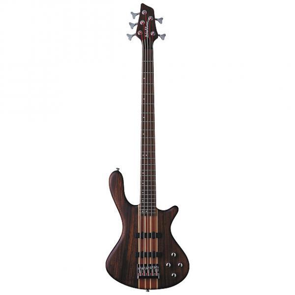 Custom Washburn T25 Natural Matte Electric 5 String Bass Guitar w/ Gig Bag #1 image