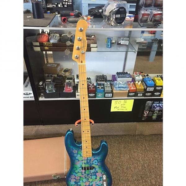 Custom Fender  Floral P Bass 2003 Blue Floral #1 image