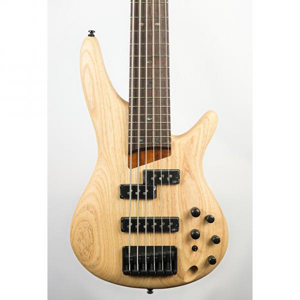 Custom Ibanez SR656 6-String Bass Guitar Natural Flat #1 image