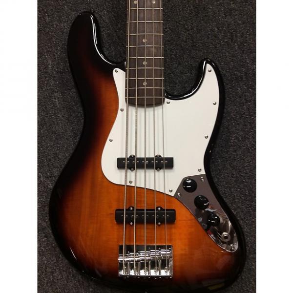 Custom Squier 5 String Jazz Bass Sunburst #1 image