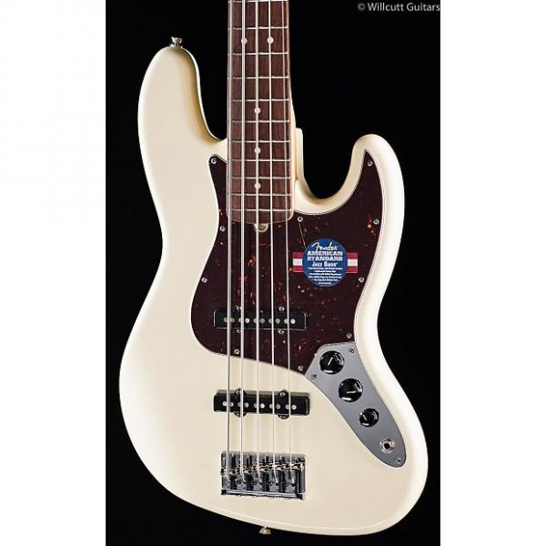 Custom Fender American Standard Jazz Bass V Olympic White (965) #1 image