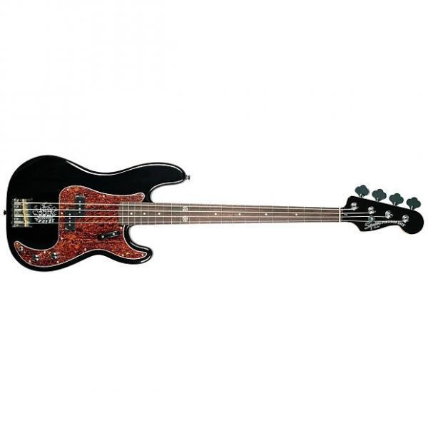 Custom Squier Eva Gardner Precision Electric Bass - Black #1 image